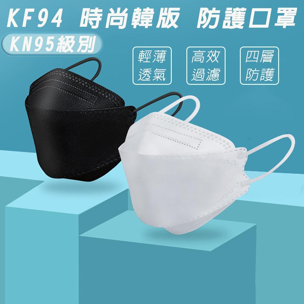 KF94魚嘴型3D立體口罩四層防護防塵飛沫立體口罩(非醫用口罩)-10片袋裝