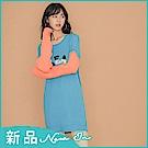 IREAL【總監直播百搭款】撞色品牌針織毛衣長版上衣