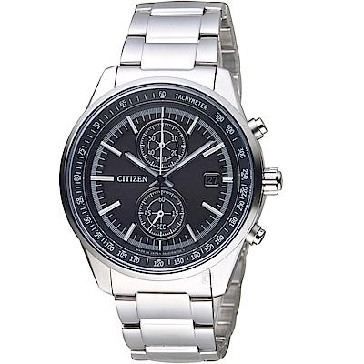 (無卡分期6期)CITIZEN星辰潮流魅力光動能手錶(CA7030-97E)-黑