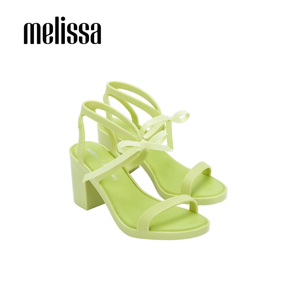 Melissa x JASON WU 時尚蝴蝶結綁帶高跟涼鞋 - 亮綠