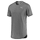PUMA-男性慢跑系列素色短袖T恤-中麻花灰-歐規