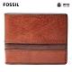 FOSSIL EASTON 基本款RFID防盜實用皮夾-咖啡色 SML1434914 product thumbnail 1