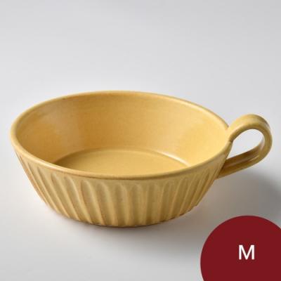 日本Tojiki Tonya 萬古 SOGI OVEN 烤盤 M 焦糖黃 15.5cm