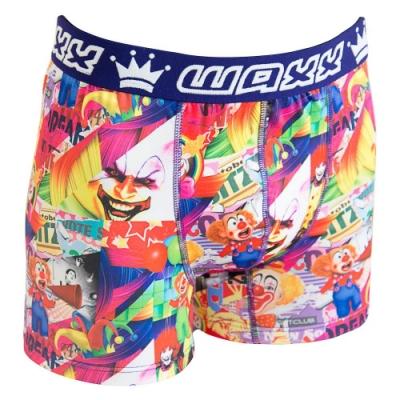 WAXX小丑娛樂設計款高質感吸濕排汗四角褲男內褲