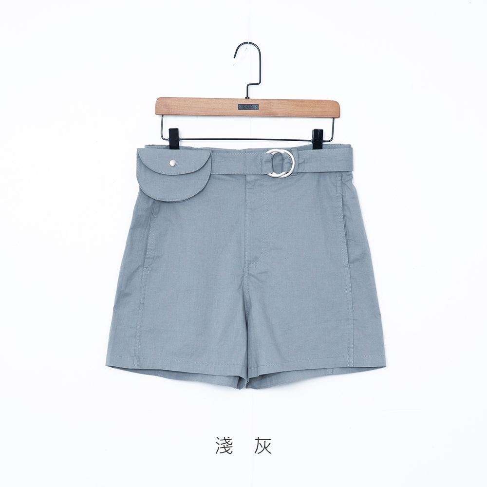 gozo 撞色後標休閒短褲(附腰帶包)(二色)