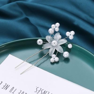 HERA 赫拉 珍珠獨立裝飾花新娘婚紗髮簪/頭飾-2色