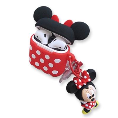 迪士尼 正版授權 Airpods 立體公仔 藍牙耳機保護套 1/2代通用款(米妮)