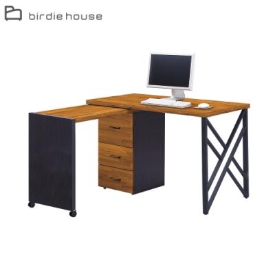 柏蒂家居-塔克4.2尺L型可收合式書桌/工作桌-127x60x78cm