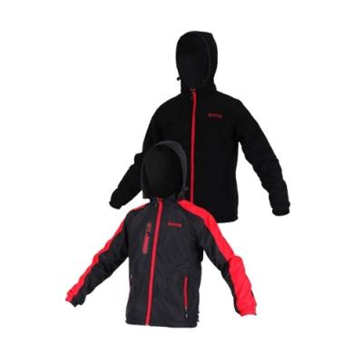 FIRESTAR 男雙面穿夾克-連帽外套 保暖外套 J5252-10 黑紅