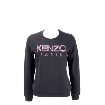 KENZO 迷彩補丁字母黑色運動衫(女款)