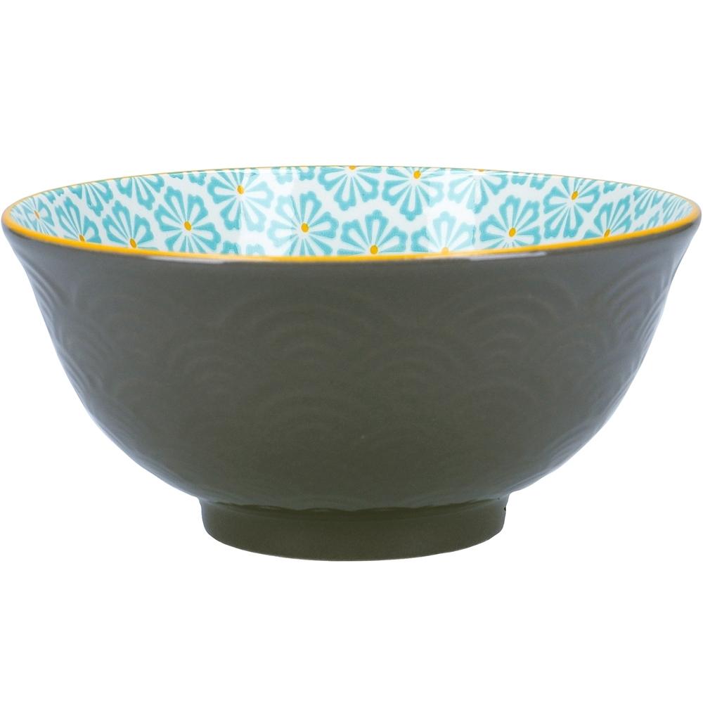 《KitchenCraft》陶製餐碗(浪紋灰)