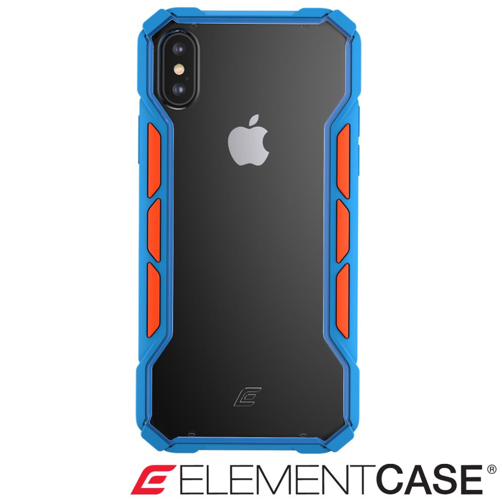 美國 ELEMENT CASE iPhone XS Max 專用拉力競賽防摔手機殼-藍/橘