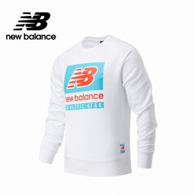 [New Balance]圓領針織長袖_男款_白色_AMT11515WT