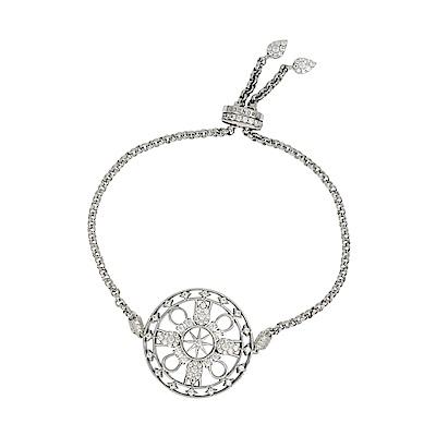 apm MONACO法國精品珠寶 閃耀銀色鑲鋯PROTECTION可調整手鍊手環