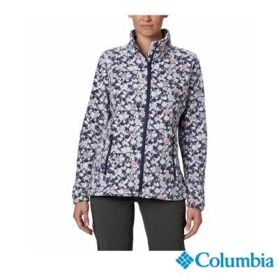 Columbia 哥倫比亞 女款- 防曬50立領外套-藍印花  UPK29160TY