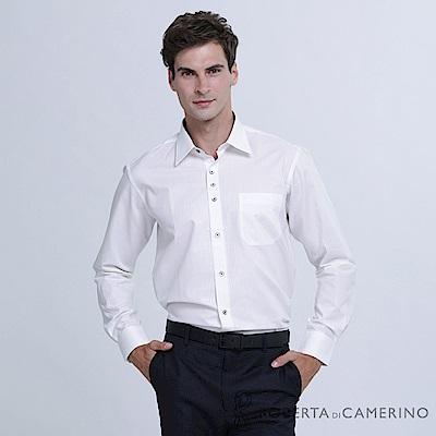 ROBERTA諾貝達 台灣製 紳士品味 條紋長袖襯衫 RDD31-91白色