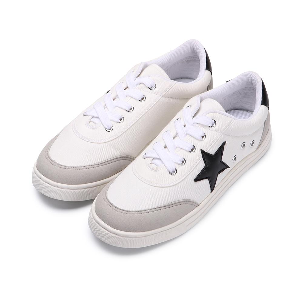 BuyGlasses 經典三色星星運動休閒鞋-黑