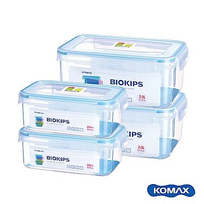 韓國KOMAX BIOKIPS PP保鮮盒4件組(900mlX2、2000mlX2)
