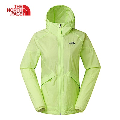 The North Face北面女款蘋果綠輕可收納式風衣外套|3RL7ET7