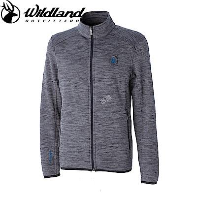 【Wildland 荒野】男雙色輕量保暖外套灰