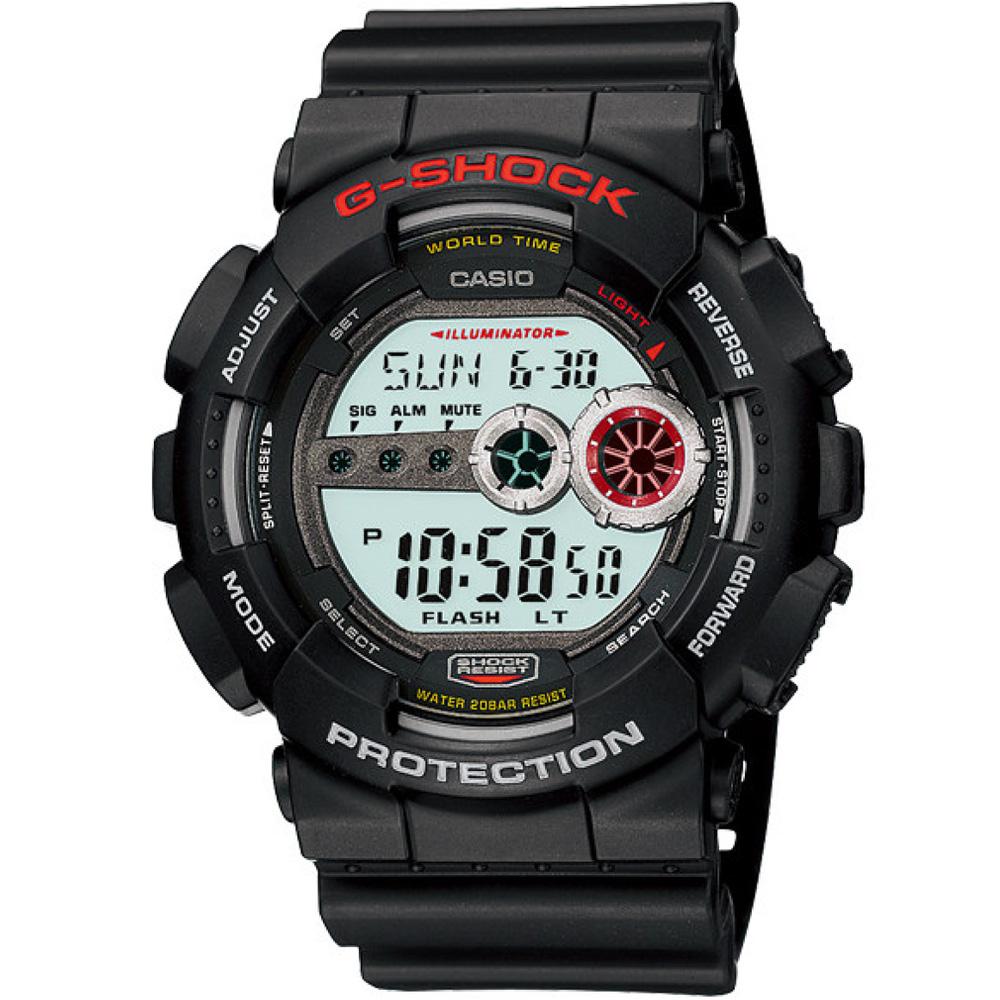 G-SHOCK 超個性強悍高亮眼休閒錶(GD-100-1A)-黑/51.2mm