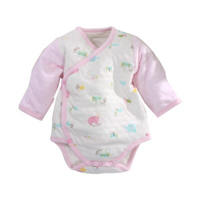 台灣製三層棉厚純棉護手連身衣 b0217 魔法Baby