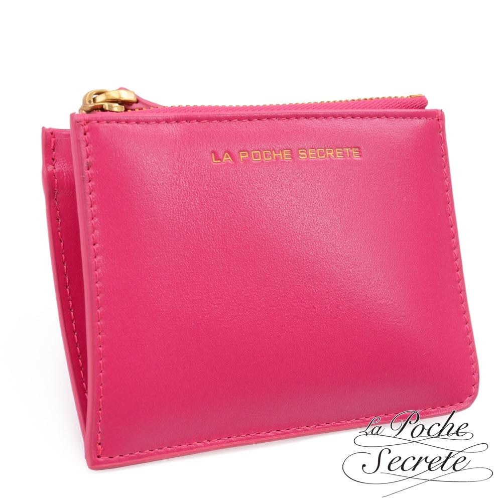 [限時搶]La Poche Secrete 簡約真皮實用卡夾零錢包(多色任選)