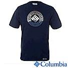 Columbia 哥倫比亞 男款純棉短袖LOGO上衣深藍 UEE18080NY