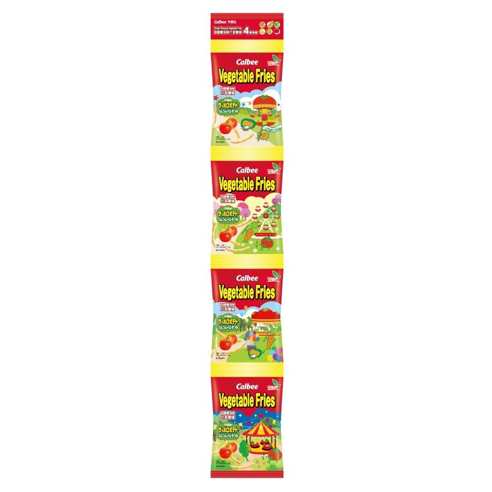 Calbee卡樂比 蔬菜薯條-田園蔬菜口味(14gX4包)