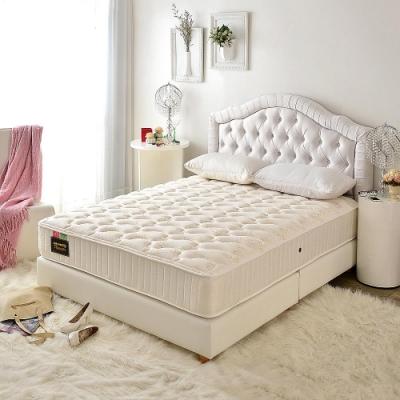 雙人5尺 飯店用透氣抗菌+側邊強化-麵包床護腰型-硬式獨立筒床墊-Ally愛麗
