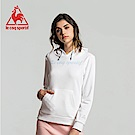 le coq sportif 法國公雞牌草寫字母毛圈連帽T恤 女-白