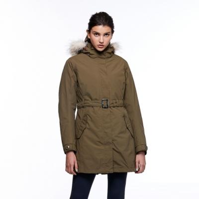 【HAKERS 哈克士】女 三合一防水長版外套(橄欖色)