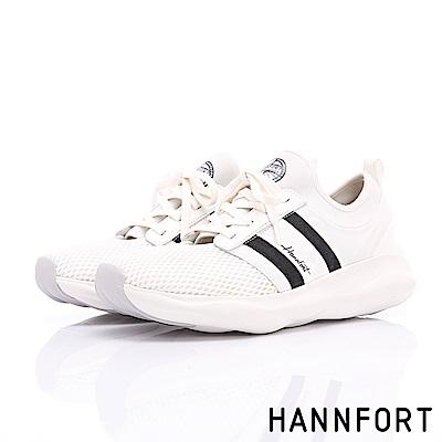 HANNFORT BUBBLES網眼綁帶芭蕾厚底跑鞋-女-潮流白