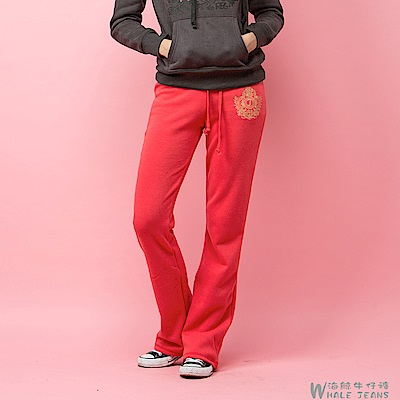 WHALE JEANS 女伶風範經典色系舒適保暖柔軟絨毛休閒褲-2款