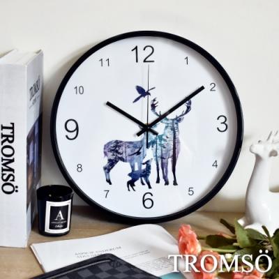 TROMSO花田森林麋鹿大理石靜音時鐘
