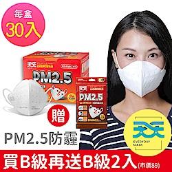 天天PM2.5專業防霾口罩_紅色警戒B級防護1盒