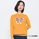 獨身貴族 藝術廣場蝴蝶圖騰圓領針織衫(2色)