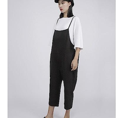 設計所在Style-背帶褲吊襠寬鬆大碼顯瘦哈倫褲