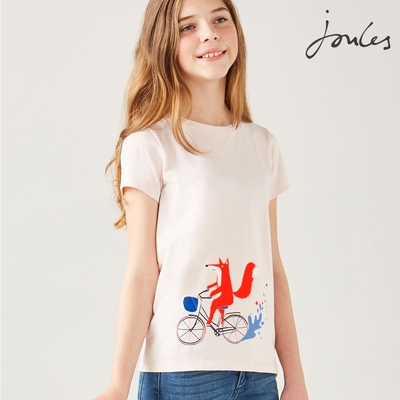 英國【Joules】Pixie淺粉狐狸短袖上衣