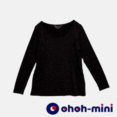 【ohoh-mini 哺乳裝】百搭舒適柔膚圓領哺乳上衣