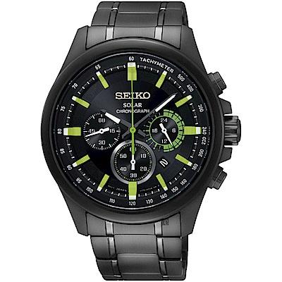 SEIKO精工 Criteria 年度限定太陽能計時碼錶(SSC689P1)-42mm