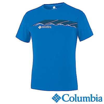 Columbia哥倫比亞 男款-酷感快排防曬30短袖上衣 UAM64630EL