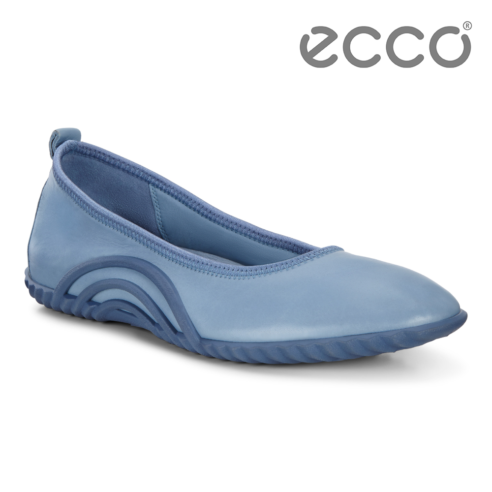 ECCO VIBRATION 1.0 活力運動風套入式休閒鞋 女-藍