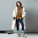 H:CONNECT 韓國品牌 女裝-純色反折造型牛仔褲-藍
