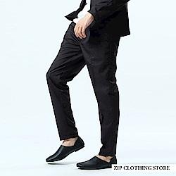 彈性素色休閒西裝褲(3色) ZIP日本男裝
