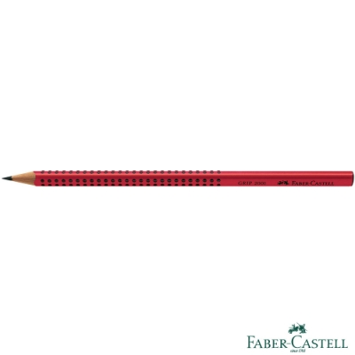 Faber-Castell 紅色系 GRIP 2001 鉛筆 (紅色) B - 12支/盒