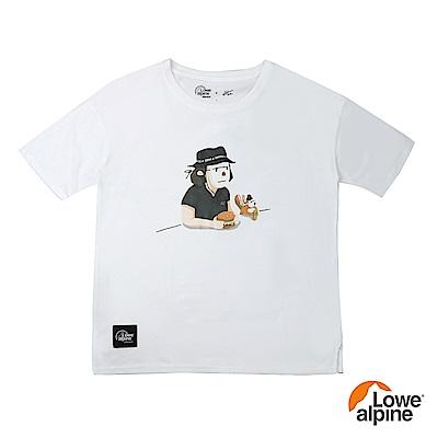Lowe alpi Silvermar女款Abei聯名插畫T恤-04 白色