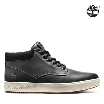 Timberland 男款黑色全粒面皮革樹型印花牛津鞋 A1S5N