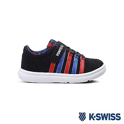 K-Swiss Classic VLC 經典休閒鞋-童-黑/藍/紅