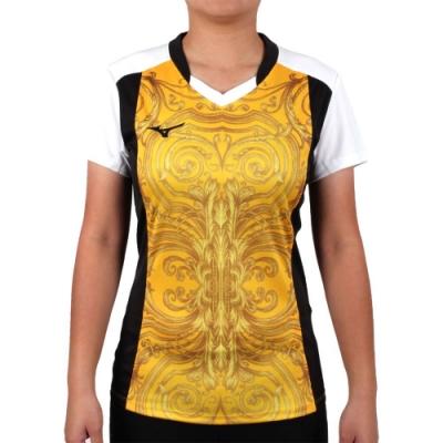MIZUNO 2017企業排球聯賽 女排球短袖上衣-T恤 短T 企排 美津濃 黃黑